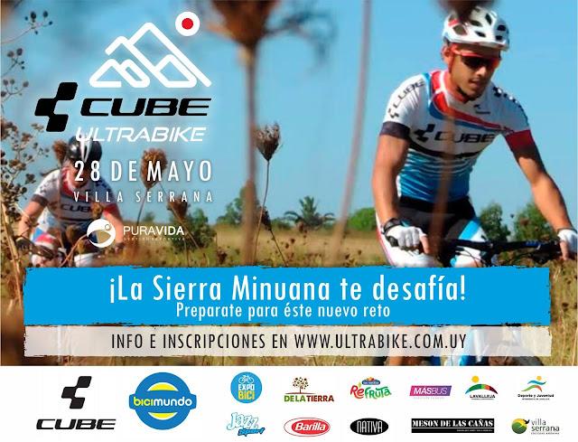 MTB - 80k y 30k Cube Ultra Bike en sierra minuana (Villa Serrana, Lavalleja, 28/may/2017)
