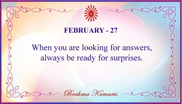 Thought For The Day February 27