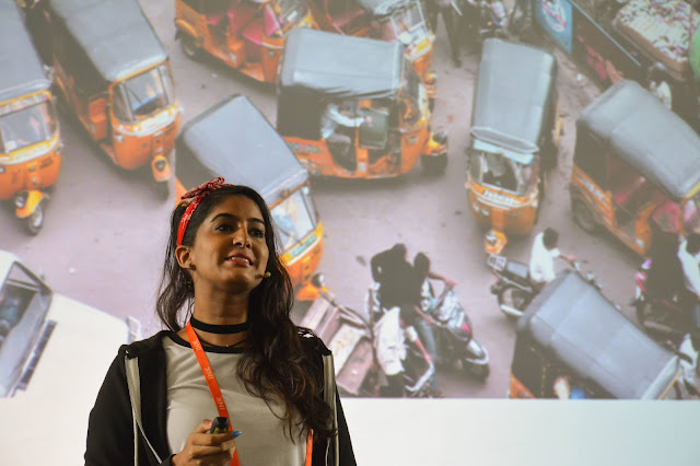 Rickshawali is a girl-centric comedy channel and the host of the channel Anisha Dixit who conducted a session at Goa Institute of Management at Day 1.
