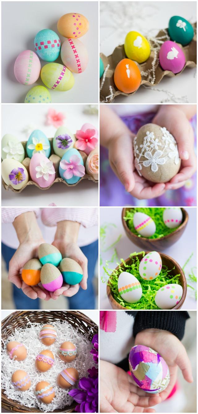 DIY Ribbon Wrapped Easter Eggs   Design Improvised