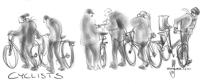 Cyclists by Ulf Artmagenta