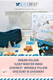 dream pillow sleep master sleep mask juverest wrinkle pillow discount and giveaway