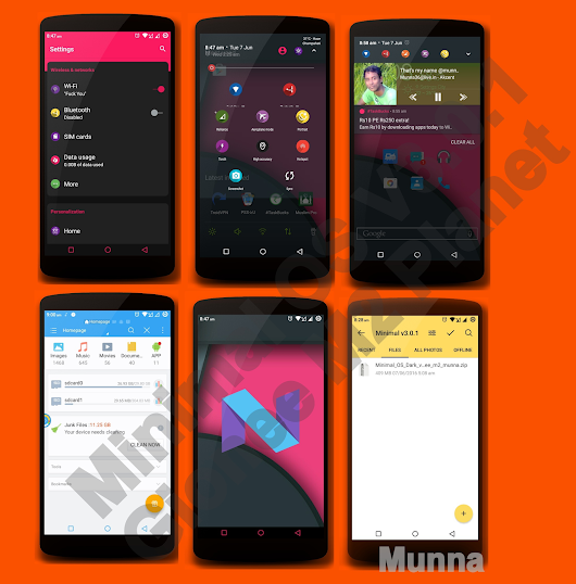 Minimal OS v3.0.1 Dark Edition for Gionee M2