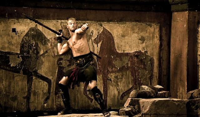 Kellan Lutz (Hercules) în arena gladiatorilor din The Legend Of Hercules