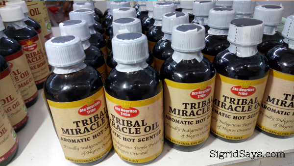 Bacolod pasalubong - therapeutic Tribal Miracle Oil