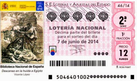 Sorteo especial de junio de la lotería nacional, sábado 7 de junio 2014