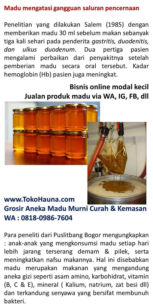 Bisnis rumahan wanita menjadi distributor madu murni bunga ...