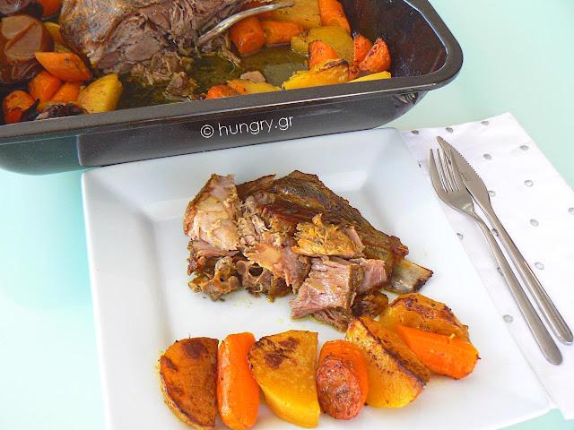 Κρέας Ψητό στο Φούρνο με Λαχανικά