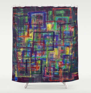 December shower curtain from Society6