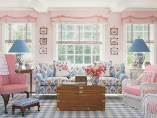 Sala decorada colores pasteles