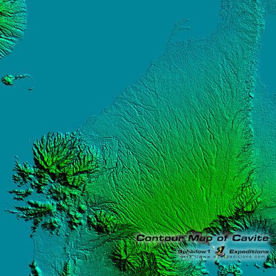 Cavite Relief Map - Schadow1 Expeditions