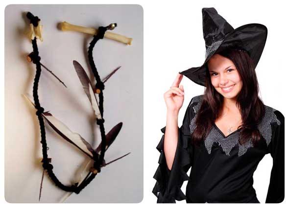 collar escalera bruja, hechizos, magia de nudos, manualidades mágicas