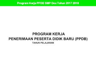 Program Kerja PPDB SMP Doc