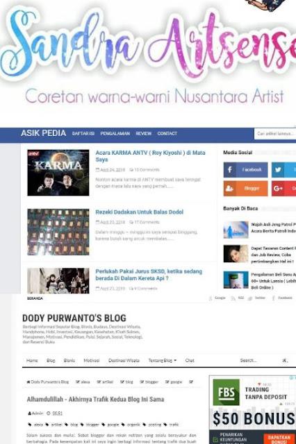 Sekilas Review Mengenai Website Sandraartsense, Asikpedia dan Doddy Purwanto