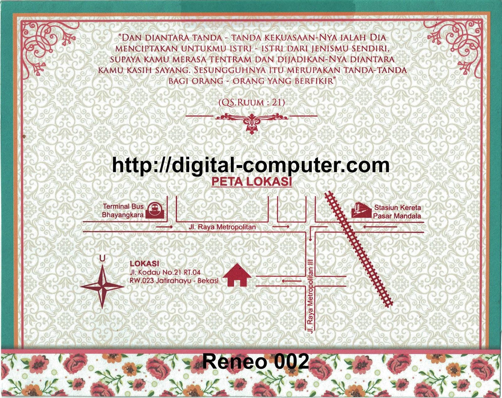 Undangan Softcover Reneo 002