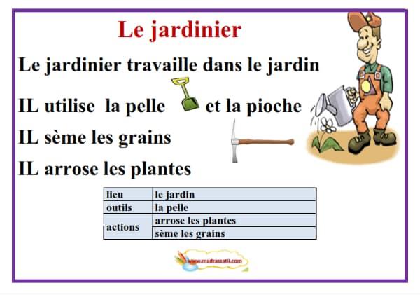 وضعيات عن المهن مادة اللغة الفرنسية السنة الرابعة و الخامسة ابتدائي