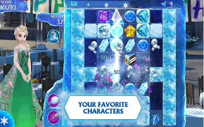 Gambar Game Perempuan Frozen Free Fall
