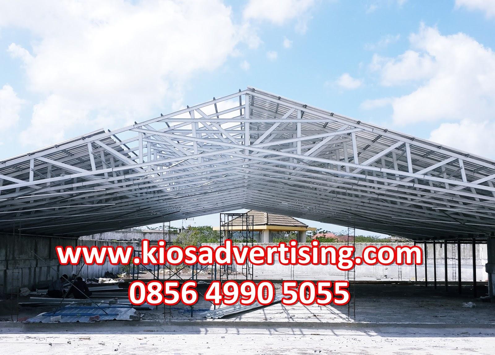 harga rangka atap baja ringan di malang jasa pemasangan kios advertising