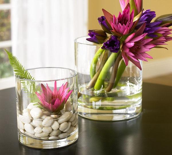 Floral Home Decorating Ideas: Floreros De Vidrio Para Centros De Mesa