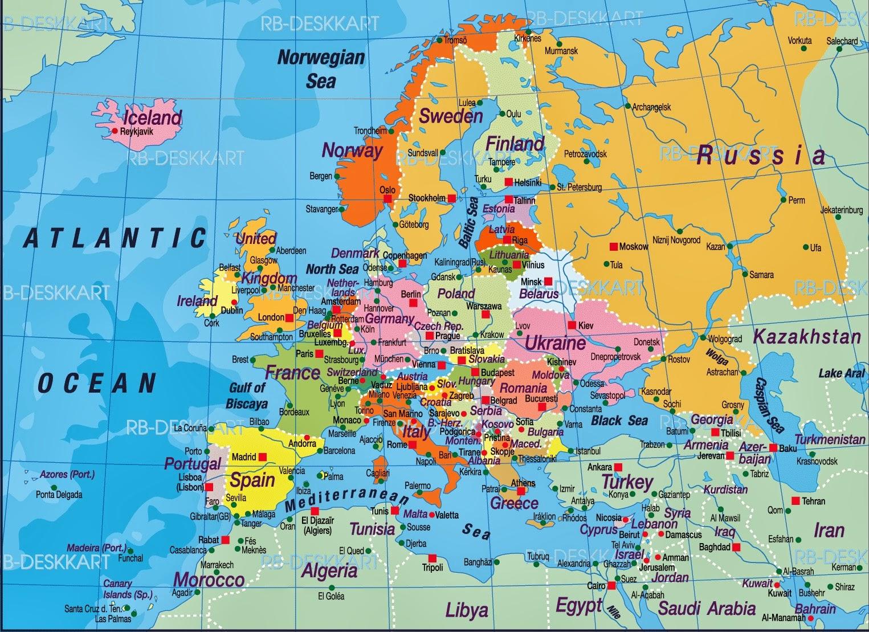 södra europa karta GAMLA POSTHUSET: Europakarta södra europa karta