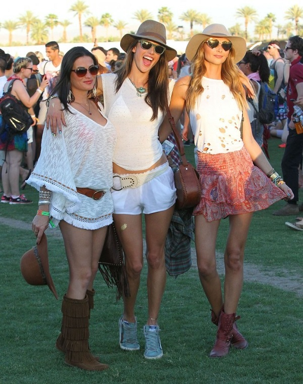 Alessandra Ambrosio at the 2014 Coachella Music and Arts Festival