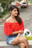 Rhea Chakraborty in Red Crop Top and Denim Shorts Spicy Pics ~  Exclusive 350.JPG