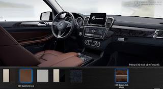 Nội thất Mercedes GLS 400 4MATIC 2016 màu Nâu Saddle 224