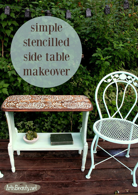 http://www.artisbeauty.net/2017/06/simple-stencilled-side-table-makeover.html