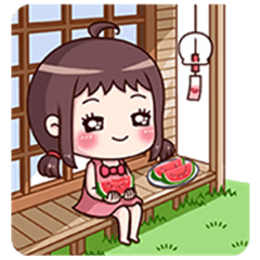 Ms. Red Bean: Animated Sound Stickers 2
