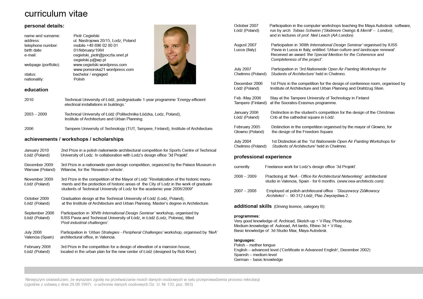 Contoh Curriculum Vitae Bahasa Inggris Dan Arti Essay Writing Format