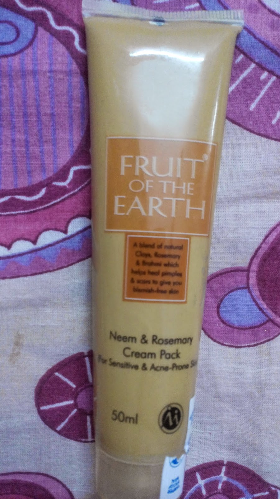 Fruit of the earth Neem and Rosemary Cream Pack, Modicare