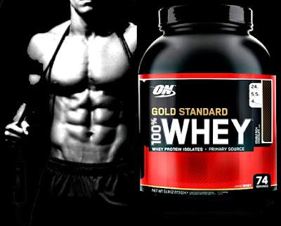Suplemento proteico Gold Standard masa muscular