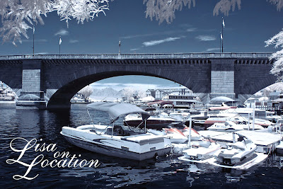 London Bridge, marina, false-color infrared, Lake Havasu City, Arizona, New Braunfels photographer