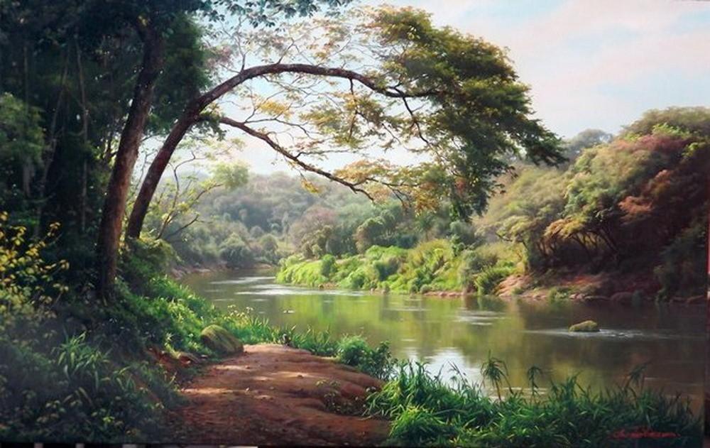 Im genes arte pinturas paisajes zen hiper naturalistas de for Imagenes zen