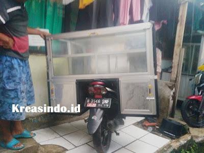Jasa Gerobak Alumunium Motor untuk Jualan Gorengan di Tangerang dan sekitarnya
