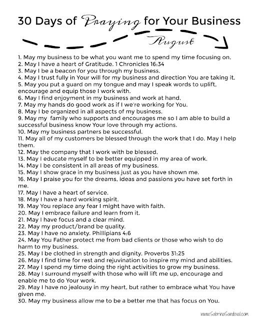 Prayer for business planning