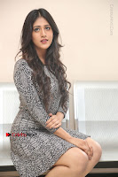 Actress Chandini Chowdary Pos in Short Dress at Howrah Bridge Movie Press Meet  0151.JPG
