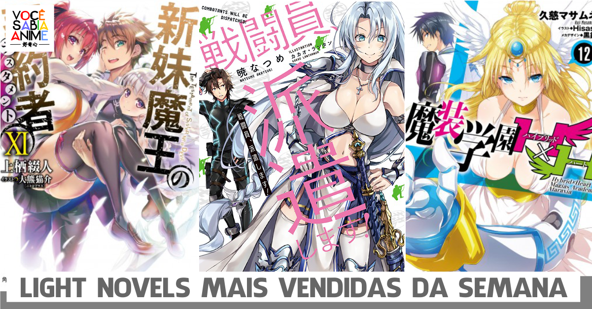 Light Novels mais vendidas da semana - Outubro 30 - Nov 5