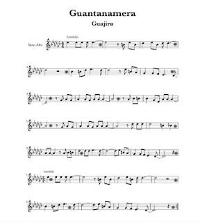 Tradicional Cubana - Guajira Guantanamera partituras