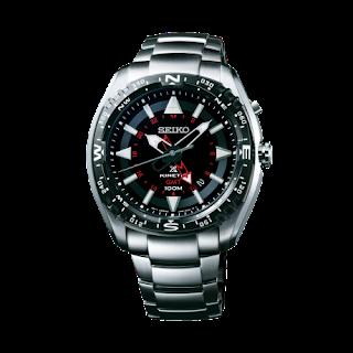 Seiko Prospex SUN049P1 Land Kinetic GMT 100M Stainless Steel Bracelet