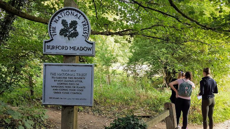 Burford Meadow 路徑的起點