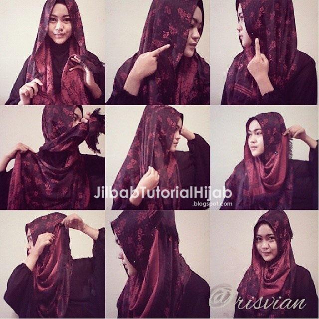 Cara Menggunakan Hijab Pashmina - tutorial hijab sederhana 2016