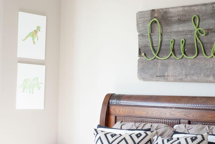Easy DIY Barnwood Rope Name Sign   VINTAGE ROMANCE STYLE