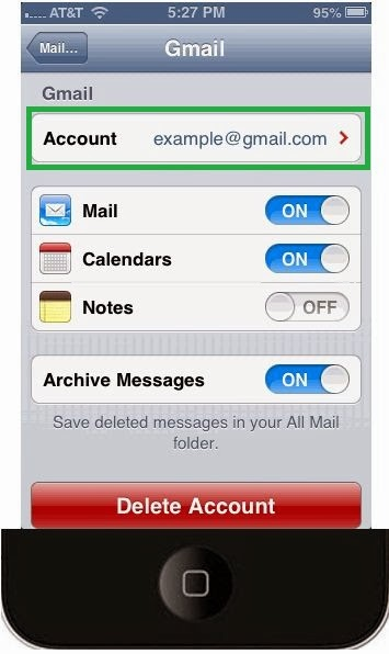 5(I)- Setup Gmail Calendar and Notes on iPhone