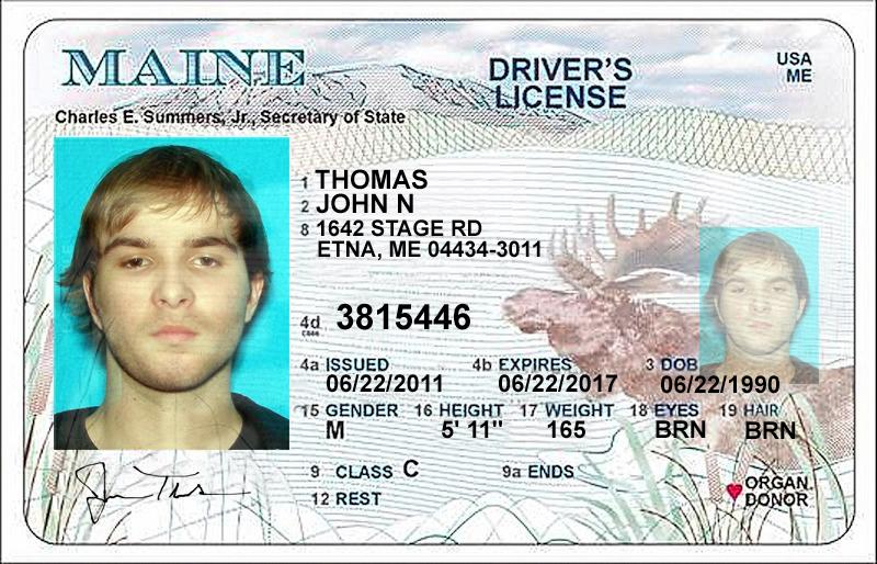 John Bthomas Bmaine Bdriver Blicense
