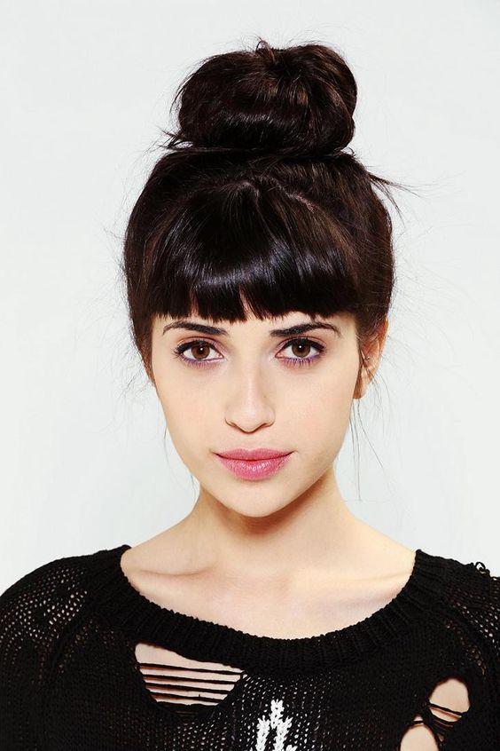 Más de 1000 ideas sobre Peinados Con Flequillo en Pinterest Cortes  - Peinados Recogidos Con Flequillo