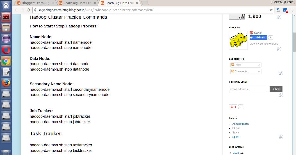 Hadoop Cluster Practice Commands   Spark Training in Hyderabad ...