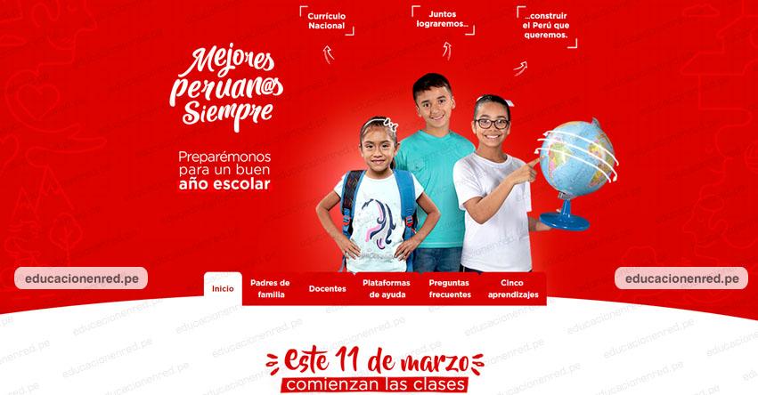 AÑO ESCOLAR 2019: Información sobre el inicio de clases (11 Marzo) www.mejoresperuanossiempre.pe