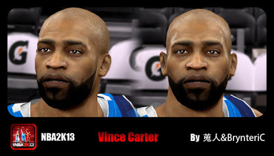 NBA 2K13 Vince Carter Cyberface Patch