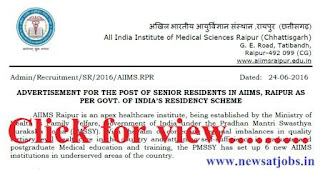 aiims+raipur+recruitment+2016